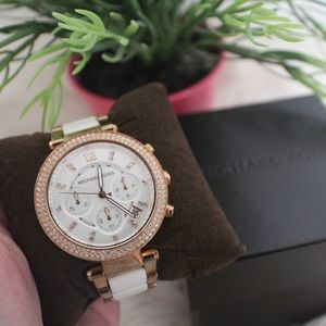 {Michael Kors} Two-Toned Chronograph Parker Watch